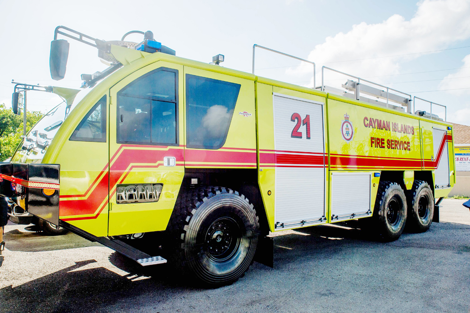 The newest aerodrome truck in the Fire Service (CIFS) fleet has been unveiled.
